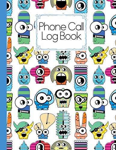 Phone Call Log Book: Monster Cover Design | Phone Message Book, 120 Pages, Size 8.5 x 11 Inch, 4 Messages per Page, 476 Sets