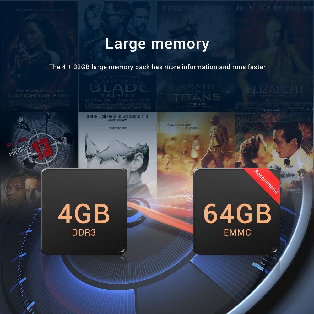 Android 9.0 TV Box,A95X F3 Air Smart TV Box con Amlogic S905X3 Quad-Core Cortex-A55 CPU,4GB RAM/64GB ROM Admite 8K 3D 2.4GHz/5.0GHz WiFi Bluetooth 4.0 con Mini Wireless Backlight Keyboard: Amazon.es: Electrónica