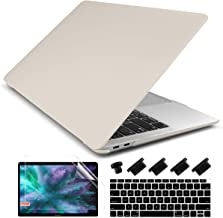 Dongke MacBook Air 13 inch Case 2019 2018 Release Model A1932, Rubberized Frosted Matte Hard Shell Cover Case for MacBook Air 13.3 inch with Retina Display Touch ID - Stone