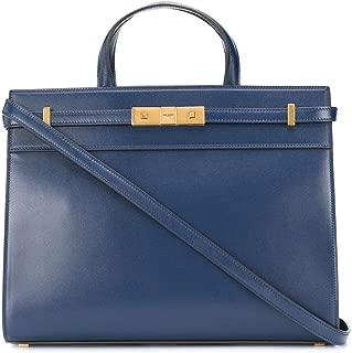 Luxury Fashion | Saint Laurent Womens 56870202G2W4272 Blue Handbag | Fall Winter 19