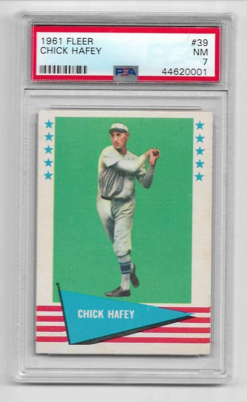 Baseball MLB 1961 Fleer #39 unisex Selling 7 PSA Chick Hafey