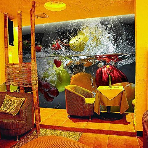 Fototapete Frucht-Unebenheits-Café-Tee-Geschäfts-Restaurant Moderne Wanddeko Design Tapete Wandtapete Wand Dekoratio TV Hintergrundwand 450x300 cm