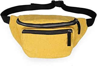 YWSCXMY-AU Fashion Women's Waist Bags Travel Money Fanny Pack for Women gilrs Waist Packs Black Belt Chest Bag (Color : Yellow)