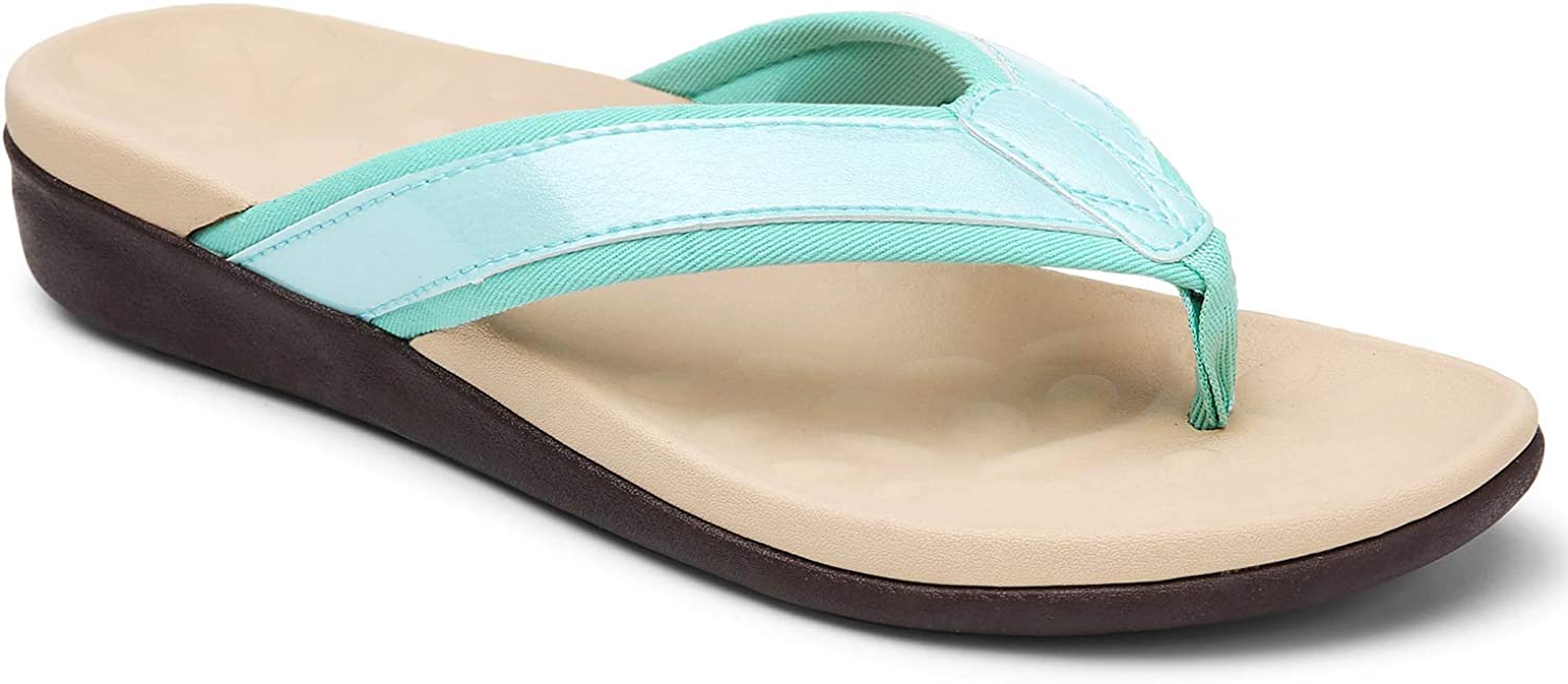 MEGNYA Orthotic Flip Flops for Women,Plantar Fasciitis/ Sandals for Flat Feet with Arch Support/ Thong Style Flip Flops Sandals/ for Comfortable Walk