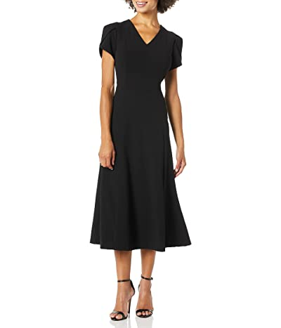 Calvin Klein Tulip Sleeve A-line Midi Dress
