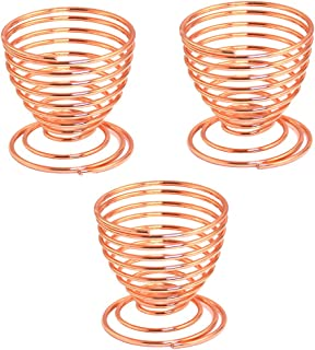 Riqiorod Beauty Sponge Blender Holders, 3 Pack Makeup Sponge Holder Beauty Sponge Holder Drying Rack Egg Powder Puff Display Stand - Rose Gold