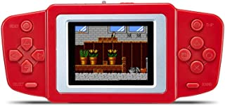 KincoBa 2.5 -inch LCD Screen With a Built-in 269 Classic Games Handheld Portable Video Game Console Rechargable Li-polymer Battery or Dry Battery Best Gift for Kids (Red)