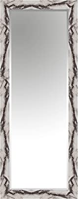 Elegant Arts & Frames Home White Marble Texture Wall Mounted Decorative Wood Water Resistant Mirror (L X W x H) Inch (40 x 16 x 2) Item Name (aka Title)