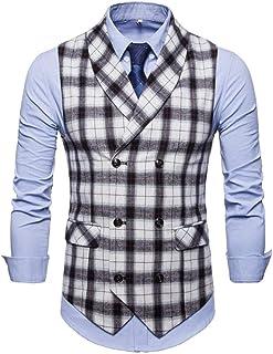 YOJAP ベスト メンズ ジレベスト スーツベスト 夏 薄手 チェック柄 可愛い ビジネス フォーマル 演出服 結婚式 紳士 仕立て 大きいサイズ オールシーズン着れる シンプル かっこいい おしゃれ ファション
