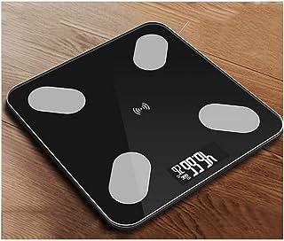 YXIAOn Escalas Escala electrónica Bluetooth Grasa Corporal Escala de Peso de pesaje for el Cuerpo Peso Digital Scales Vidrio Templado Pantalla LCD (Color : Type B)