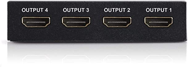 4K HDMI Splitter – 1 Input Device to 4 Displays by Ditching Extra Cable Boxes - Powerful Signal Transfer Up to 65ft – Reco...
