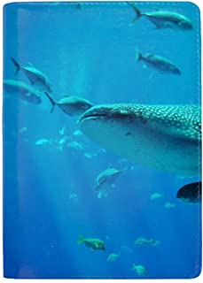 Whale Shark Travel Wallet RFID Blocking Document Organizer Bag, Family Passport Holder