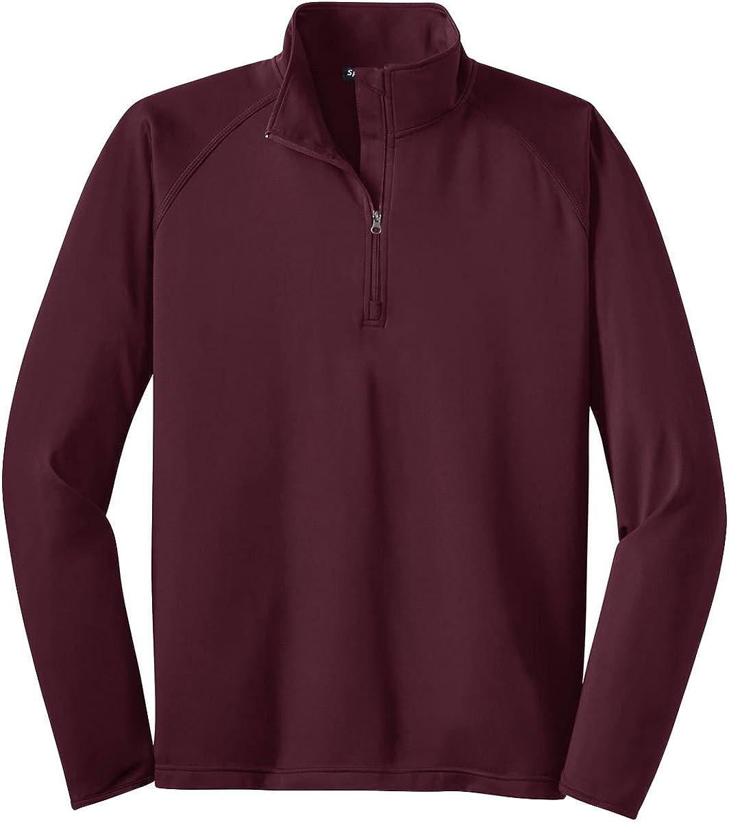 Sport-Tek Stretch 1/2-Zip Pullover, Maroon