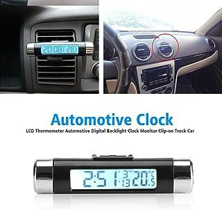 1,5 m de cable 12 V para interior y exterior Rojo pantalla LCD sensor Mini term/ómetro digital para coche para veh/ículos