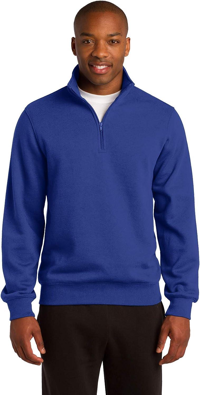 Sport-Tek Mens Tall 1/4-Zip Sweatshirt, XLT, True Royal