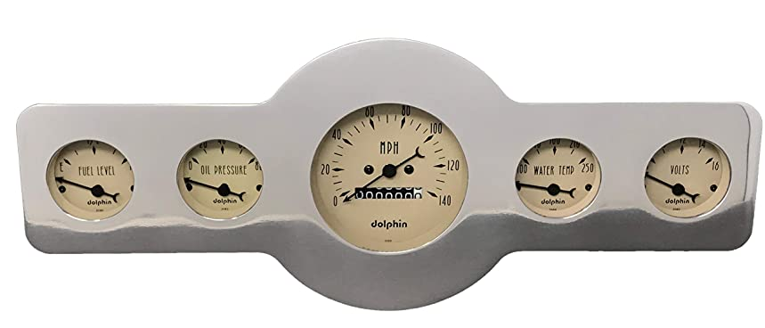 Dolphin Gauges 1946 1947 1948 Pontiac Car 5 Gauge Dash Cluster Rear Mount Panel Mechanical Tan