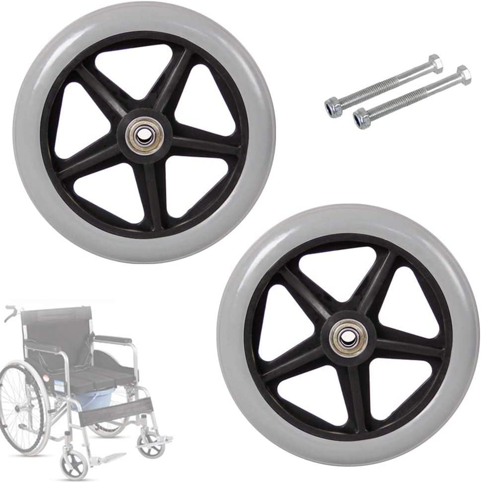 5-Spoke Limited time shop cheap sale Wheelchair Front Castor Wheels Inch Rep 6-8 Solid Wheel