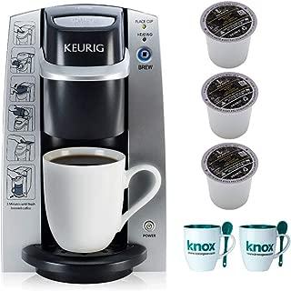 Keurig B130 K-Cup Coffee Maker DeskPro Brewing System Includes 6 Van Houtte K-Cups and 2 Mugs Bundle