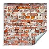 Muralo, carta da parati fotografica, effetto 3D, 1000 x 53 cm, in tessuto non tessuto, carta da parati murale, muro mattone, effetto 3D, soggiorno, camera da letto, moderna XXL, Easyinstall