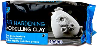 Artoys Air Dry Clay,Modelling clay White 2KG,Sculpting,Moulding,Preshool toys,Pretend play,school craft supplies