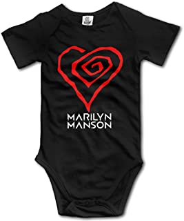 Green Tree Unisex Girls Marilyn Manson Heart Logo Baby Onesies Romper