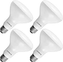 4-Pack BR30 LED Bulb, Luxrite, 65W Equivalent, 2700K Warm White, Dimmable, 650 Lumens, LED Flood Light Bulbs, 9W, Energy S...