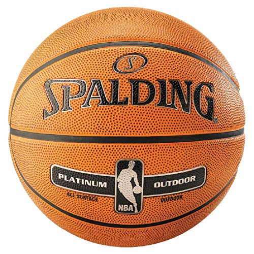 Spalding NBA Platinum Outdoor - Balón de baloncesto (7), color naranja