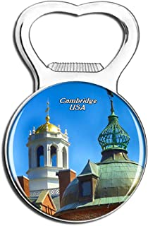 Weekino USA America Harvard University Cambridge Fridge Magnet Bottle Opener Beer City Travel Souvenir Collection Strong Refrigerator Sticker