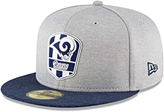New Era Los Angeles Rams NFL Sideline 18 Road On Field Cap 59fifty Fitted OTC
