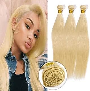 Straight Human Hair Bundles Grade 7A Unprocessed Brazilian Human Hair Sew in Hair Weft Extensions 100g/Bundle 24 Inch #613