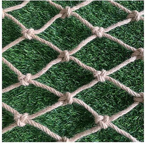 Hemp Decorations Nets, Manila Rope Jute Weaving Net Decorative Netting Railing Balcony Safety Pet Stairs Kids Protection