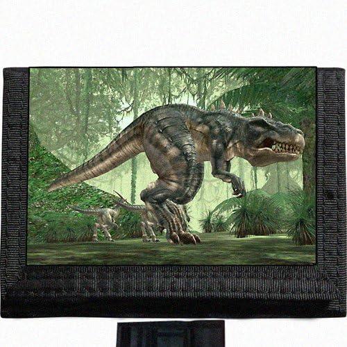 T Rex Dinosaur Tyrannosaurus rex Black Trifold Nylon Wallet Great Gift Idea