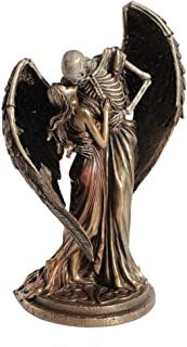 The Kiss Of Death Winged Skeleton Cold Cast Bronze Statue