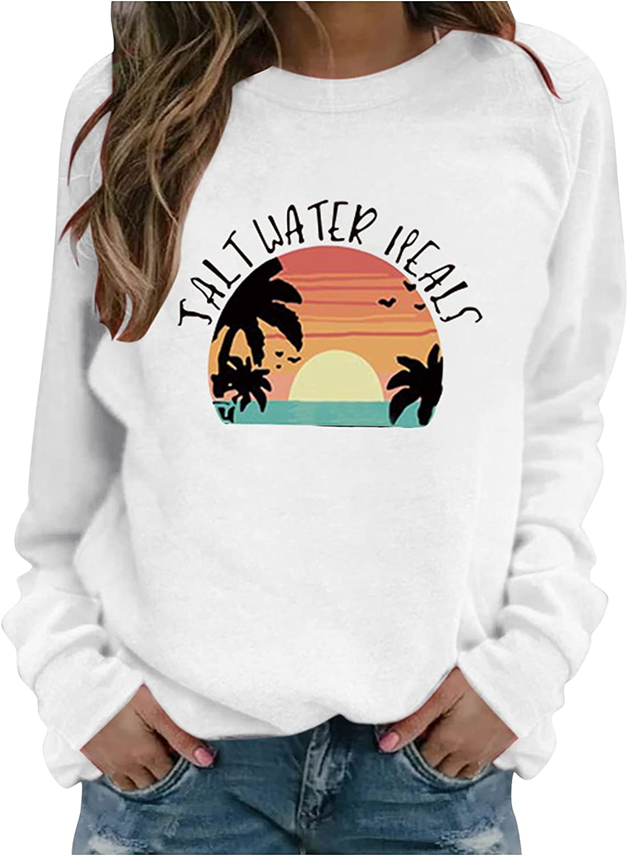 felwors Sweatshirts for Women, Womens Long Sleeve Tunic Tops Sweatshirt Loose Round Neck Soft Casual Blouse Shirts