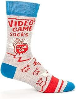 Mens Novelty Crew Socks - Video Game Socks (One Size/Men's 7-12)