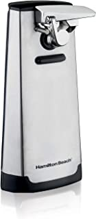Hamilton Beach Steel Electric Automatic Can Opener with Knife Sharpener, Easy-Clean Detachable Cutting Lever, Cord Storage...