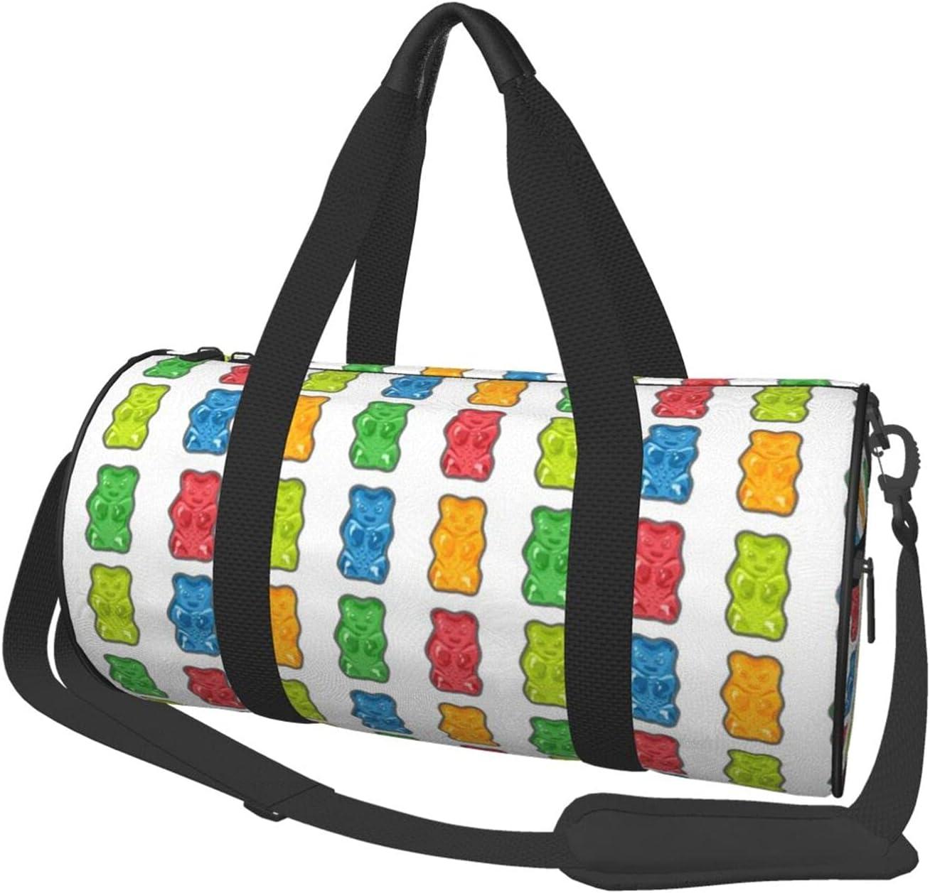 Round Sports Gym Bag Rainbow Should Handbag Yoga Bears Gummy Wholesale Max 44% OFF