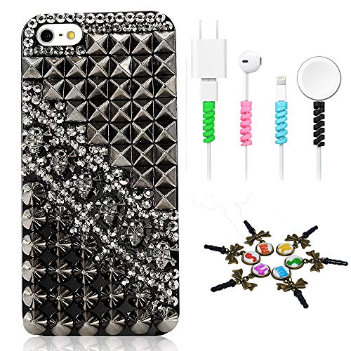 STENES Bling Case Compatible with iPhone 5/5S/SE - Stylish - 3D Handmade [Sparkle Series] Punk...