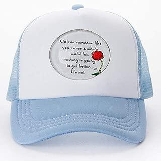 Lorax Truffula Tree 'Unless' Quote Necklace, Dance Recital Baseball caps Golf Caps hat Literary Jewelry