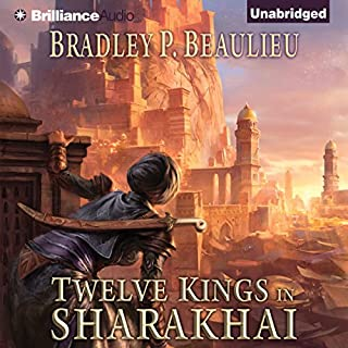 Twelve Kings in Sharakhai audiobook cover art