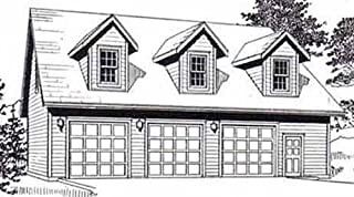 Garage Plans: Three Car Garage With Loft Apartment (truss version) - Plan 2280-2