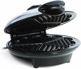 Euro Cuisine WM520 Eco Friendly Heart Shaped Waffle Maker - PTFE and PFOA Free Non Stick Plates,Silver