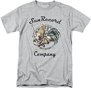 Sun Records Rockin Rooster On Gray Adult T-Shirt