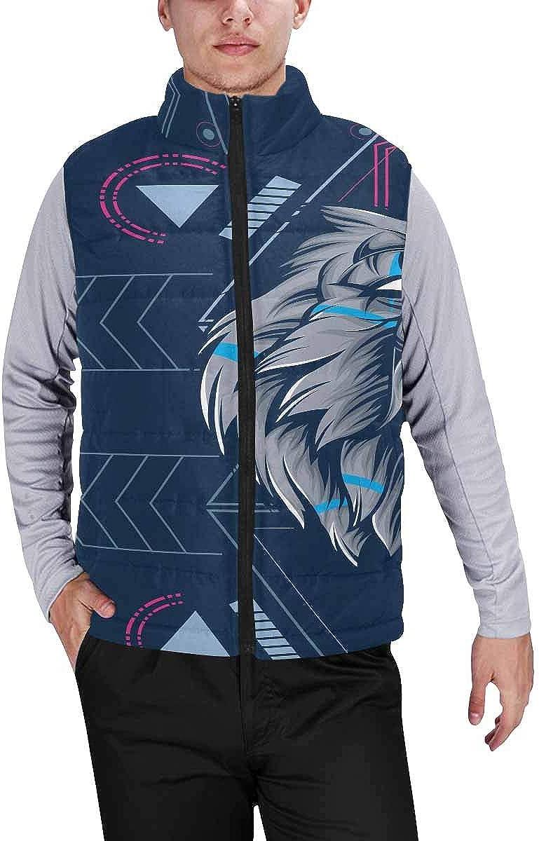 InterestPrint Men's Casual Sleeveless Coats with Personality Design Beach Starfish