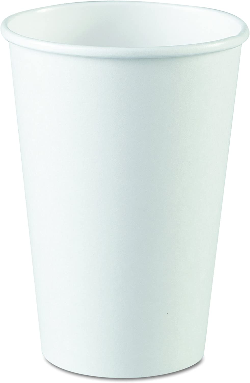 Dixie 16 oz. Paper Hot Coffee Cup by GP PRO (Georgia-Pacific), White, 2346W, 1,000 Count (50 Cups Per Sleeve, 20 Sleeves Per Case)