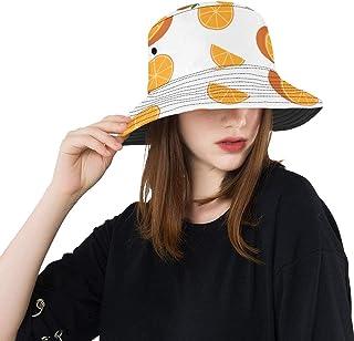 1768baf6f95369 Slice Orange Delicious Pretty Fruit New Summer Unisex Cotton Fashion Fishing  Sun Bucket Hats for Kid