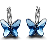 Brilla Gifts for Women Hoop Earrings Stud Fashion Jewelry with Swarovski Elements Crystal...