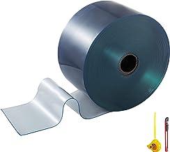 BestEquip Plastic Strips Door Curtain 148 Feet Length X 7.8 Inches Width, 1 Roll PVC Door Curtain, 0.08 Inch Thickness Str...