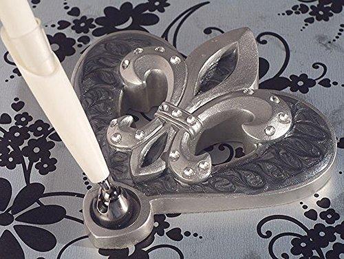 Platinum Fleur De Lis Collection Pen Set