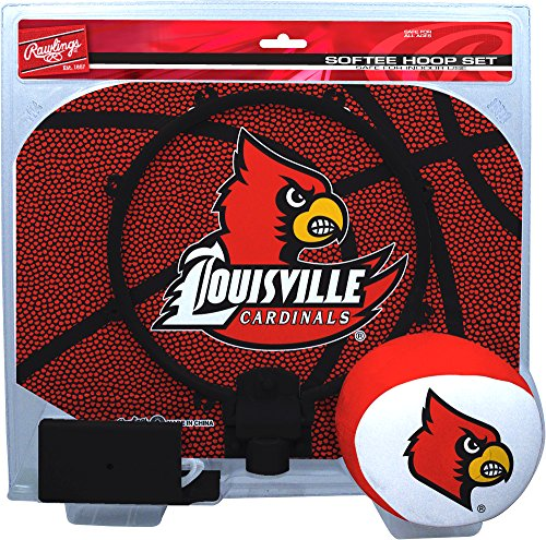 NCAA Louisville Cardinals Kids Slam Dunk Hoop Set, Red, Small